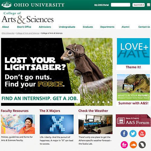 Ohio University – College of Arts & Sciences