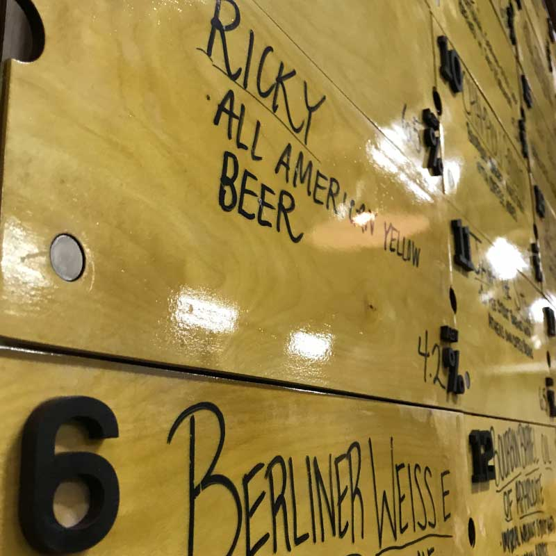 Jackie O's Beer Boards
