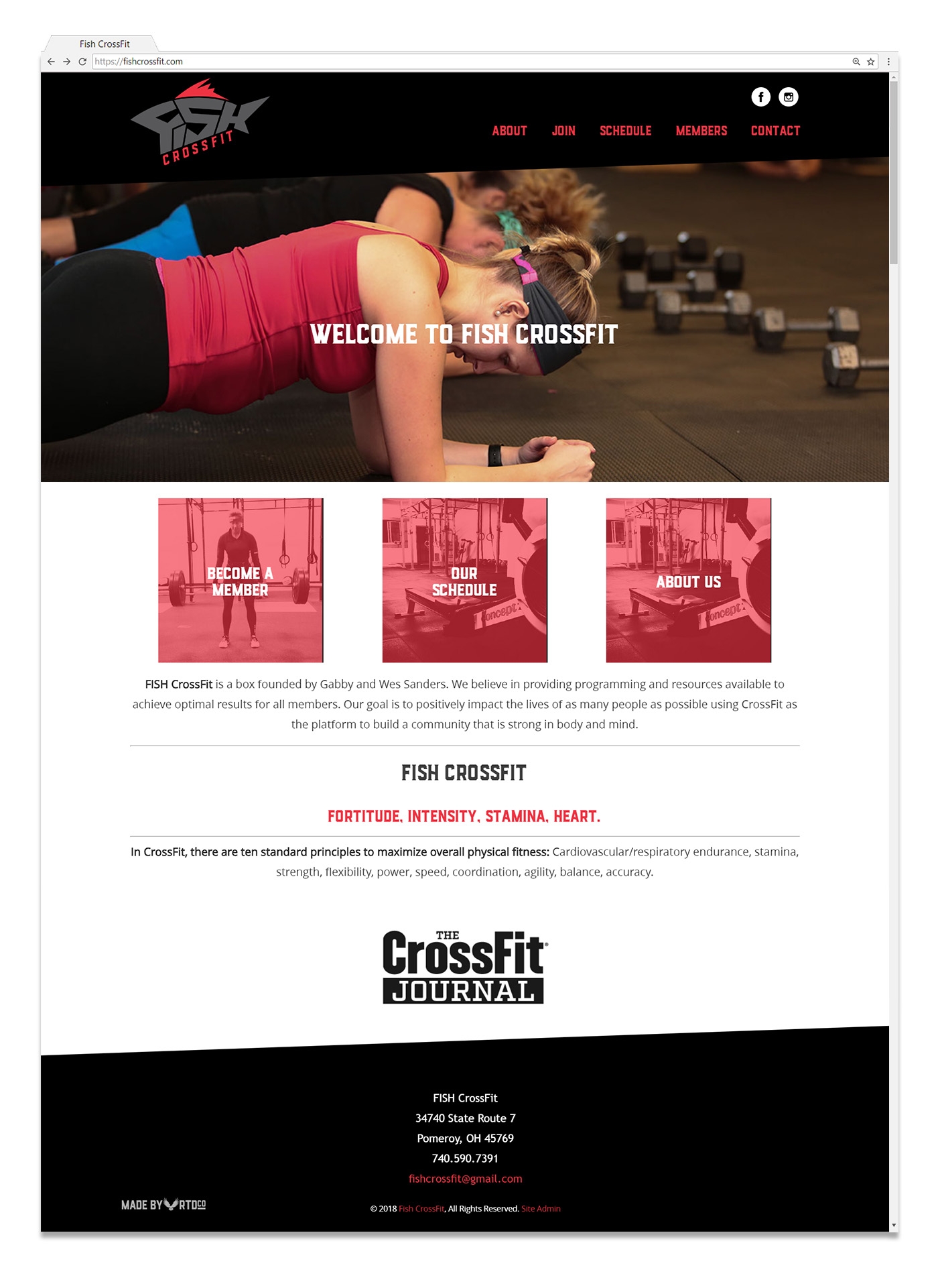 Fish Crossfit Box Pomeroy Ohio Web Design by Red Tail Design Co.