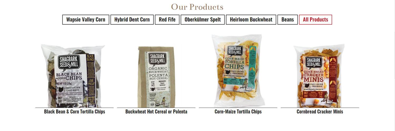Shagbark Seed & Mill Products Display