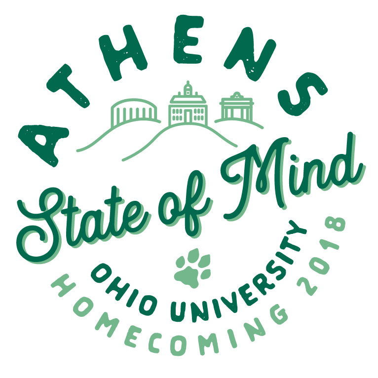 Ohio University homecoming logo 2018