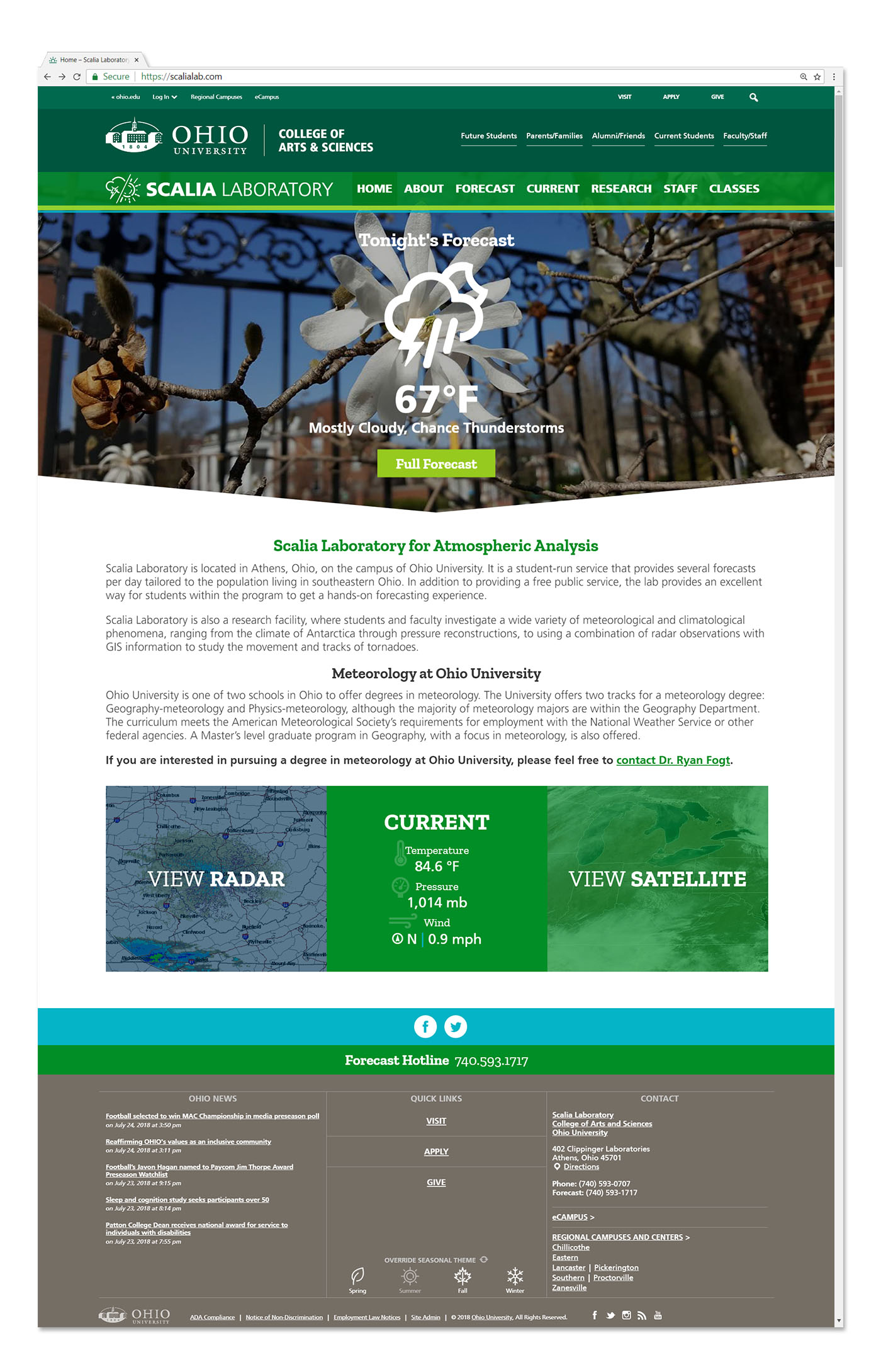 Scalia Lab website mockup by Red Tail Design
