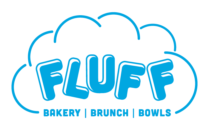 Fluff Bakery Cafe Athens logo by Red Tail Design