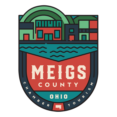 Meigs County Chamber and Tourism branding portfolio project by Red Tail Design
